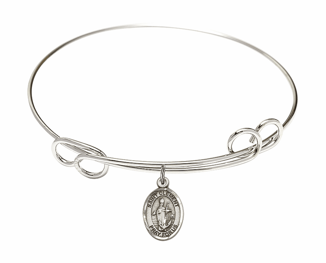 Round Loop St Clement Bangle Charm Bracelet by Bliss