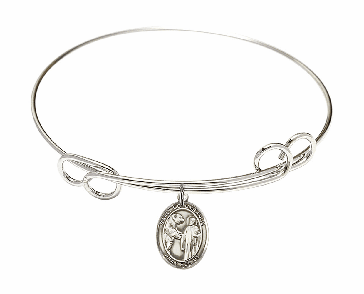 Round Loop St Columbanus Bangle Charm Bracelet by Bliss