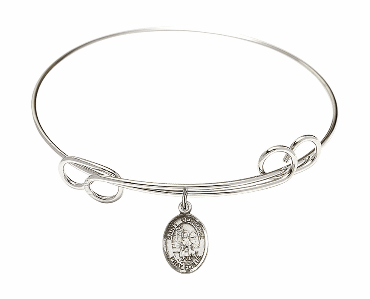 Round Loop St Germaine Cousin Bangle Charm Bracelet by Bliss