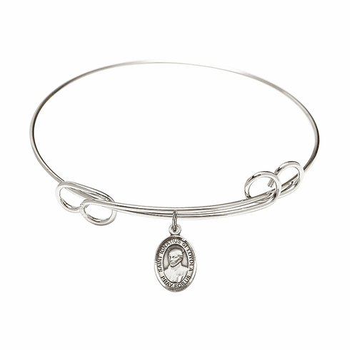 Round Loop St Ignatius of Loyola Bangle Charm Bracelet by Bliss