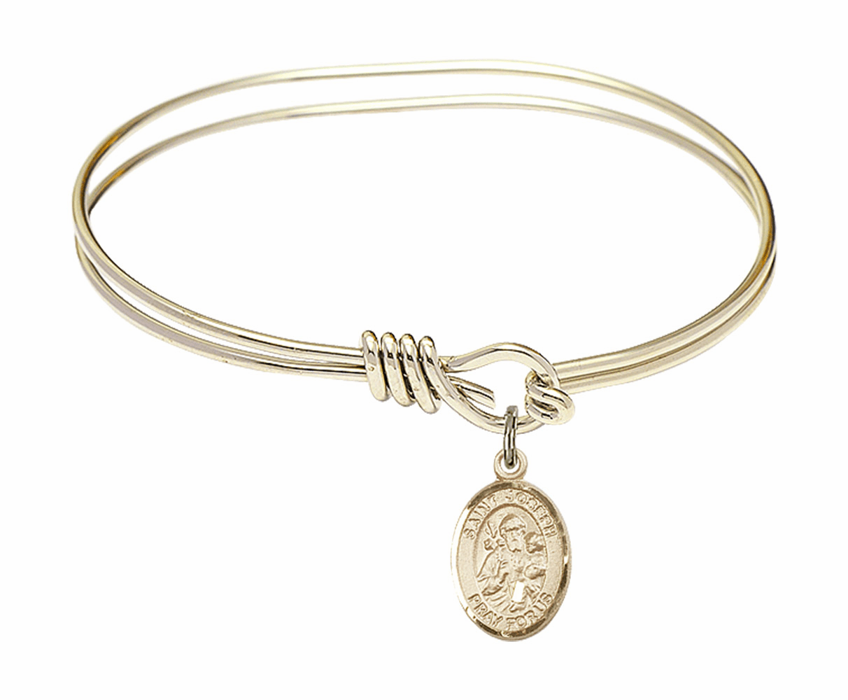 Round Loop St Joseph Bangle 14kt Gold-filled Charm Bracelet by Bliss