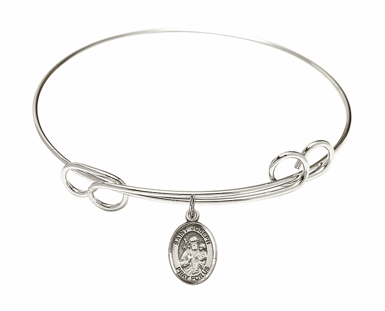Round Loop St Joseph Bangle Charm Bracelet by Bliss