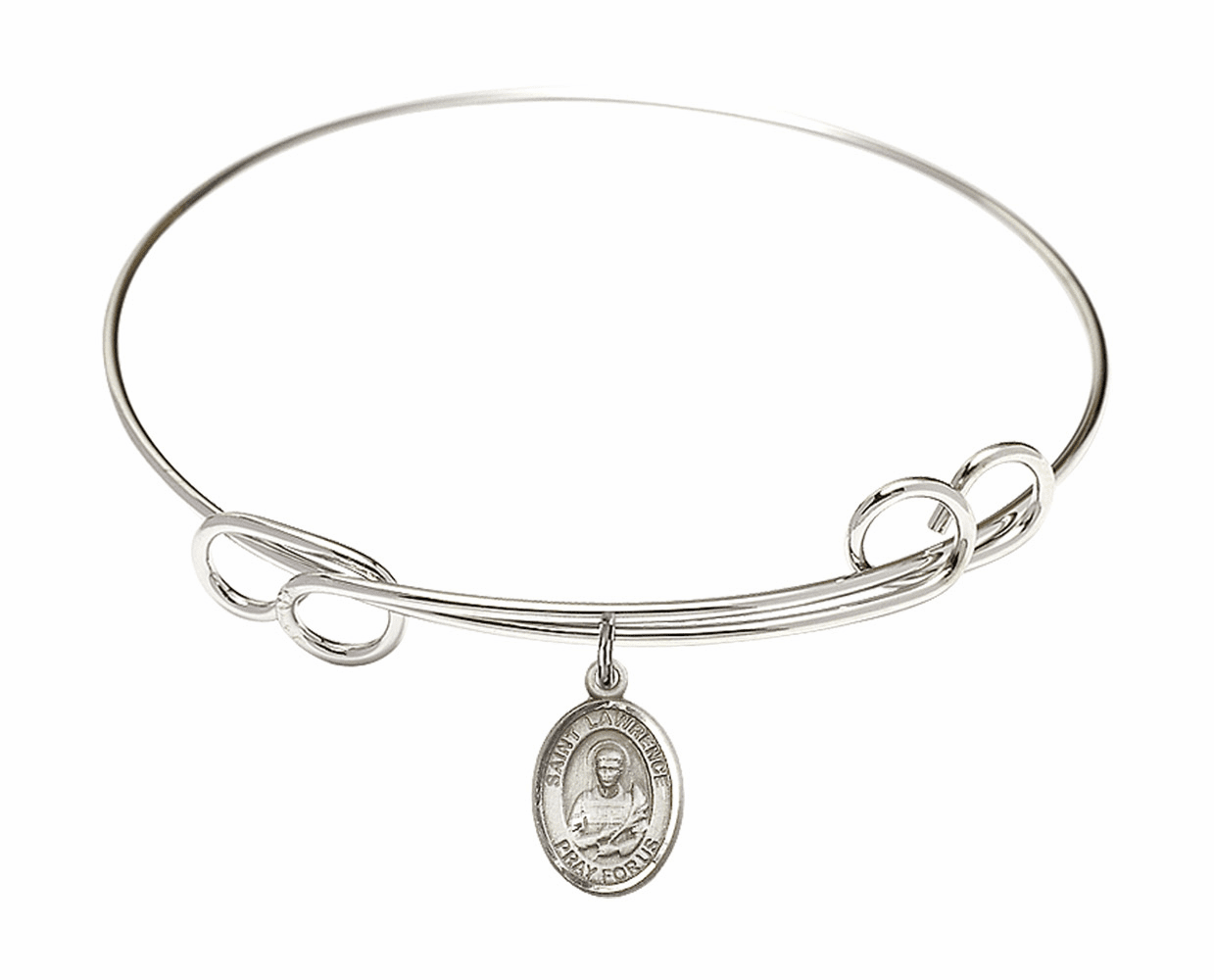 Round Loop St Lawrence Bangle Charm Bracelet by Bliss