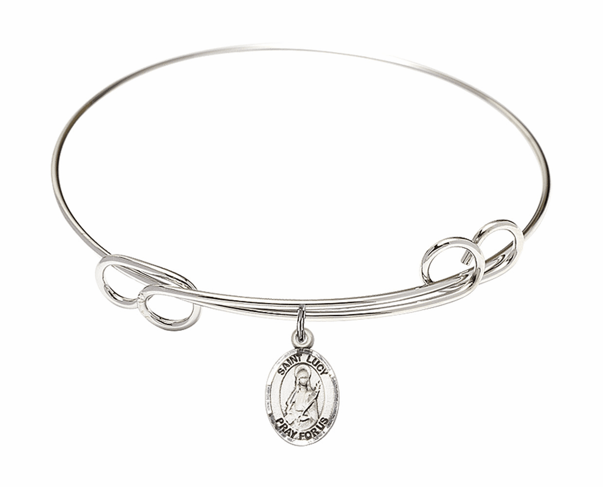 Round Loop St Lucy Bangle Charm Bracelet by Bliss