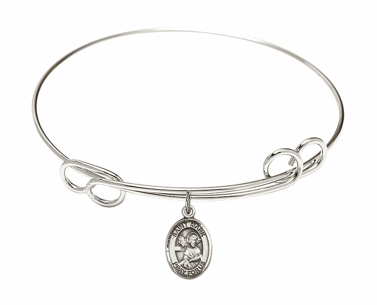 Round Loop St Mark the Evangelist Bangle Charm Bracelet by Bliss