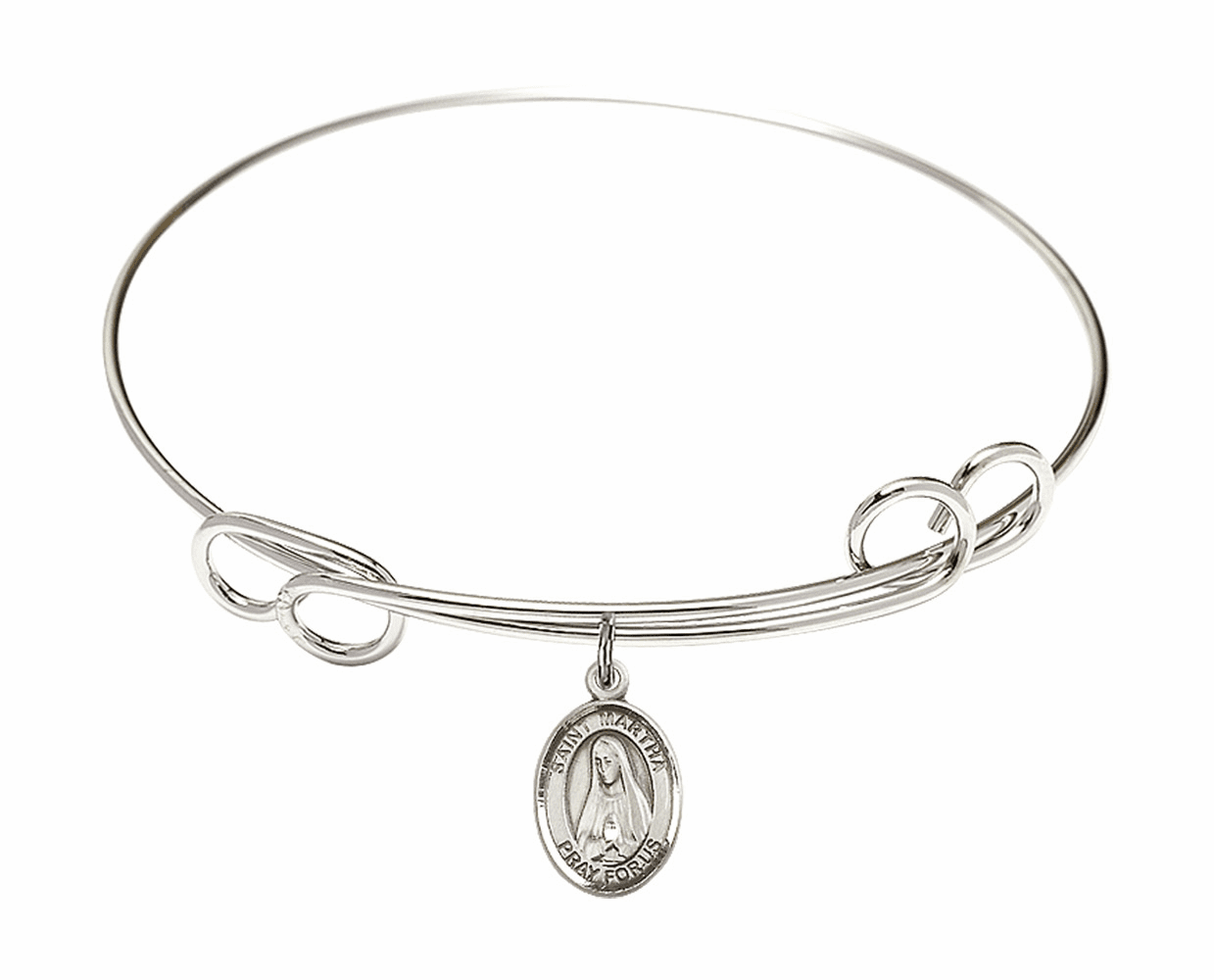 Round Loop St Martha Bangle Charm Bracelet by Bliss