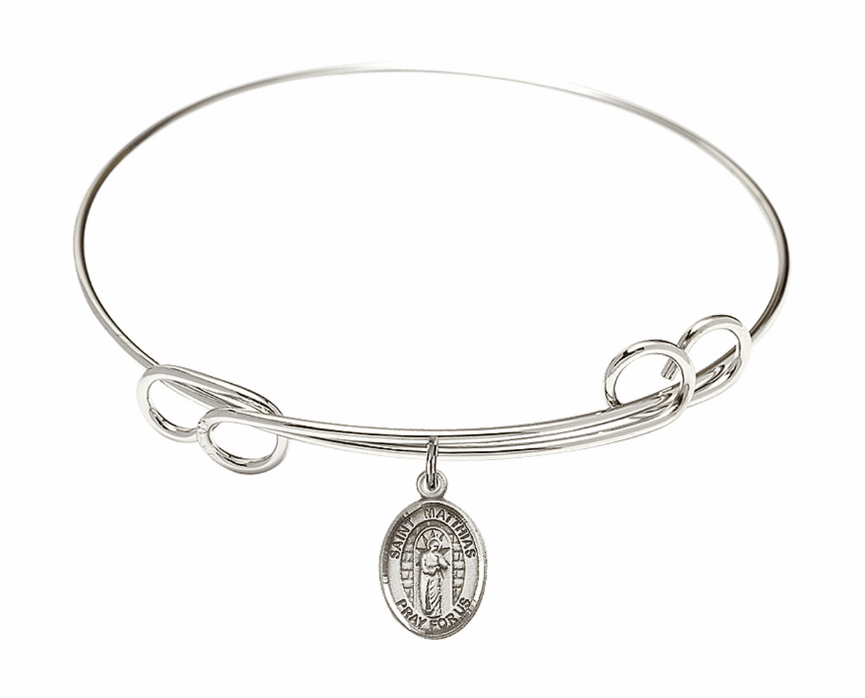 Round Loop St Matthias the Apostle Bangle Charm Bracelet by Bliss