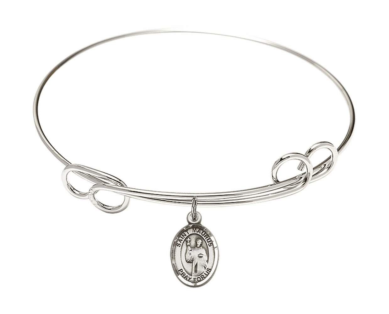 Round Loop St Maurus Bangle Charm Bracelet by Bliss