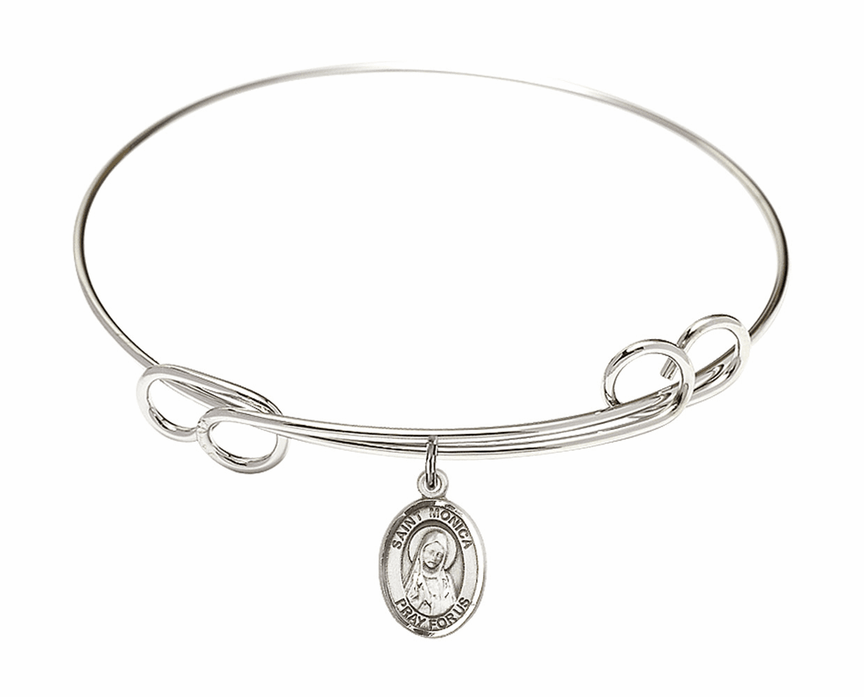Round Loop St Monica Bangle Charm Bracelet by Bliss
