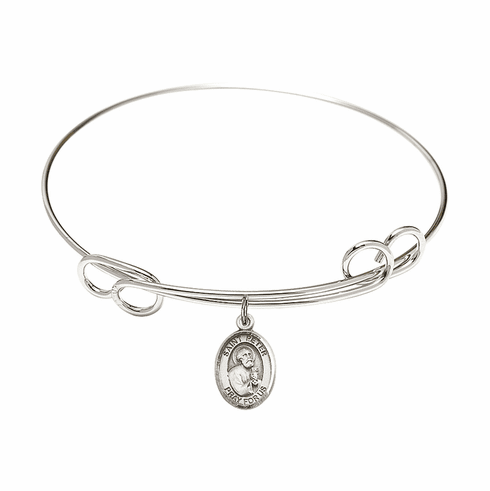 Round Loop St Peter the Apostle Bangle Charm Bracelet by Bliss
