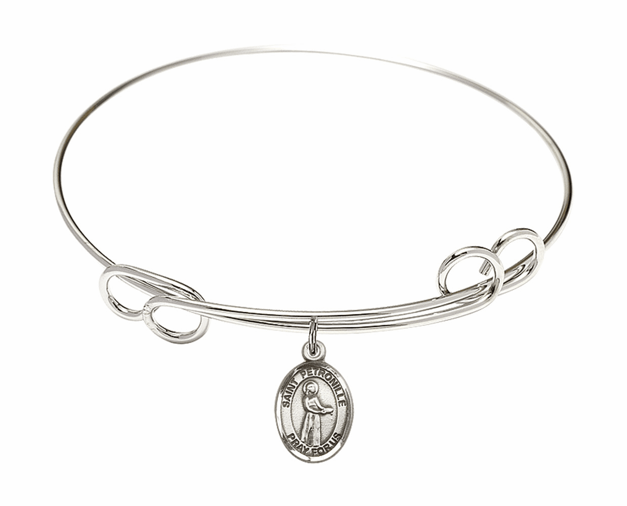 Round Loop St Petronille Bangle Charm Bracelet by Bliss
