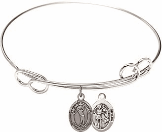 Round Loop St Sebastian Golf Bangle Charm Bracelet by Bliss