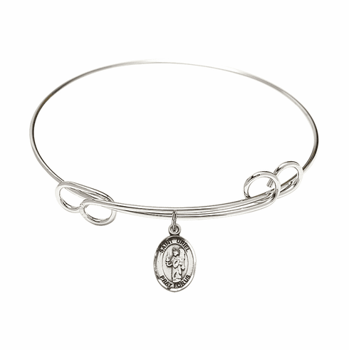 Round Loop St Uriel the Archangel Bangle Charm Bracelet by Bliss