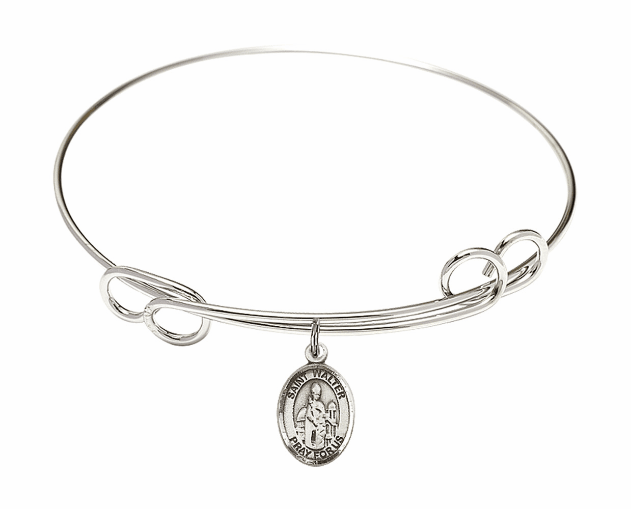 Round Loop St Walter of Pontnoise Bangle Charm Bracelet by Bliss