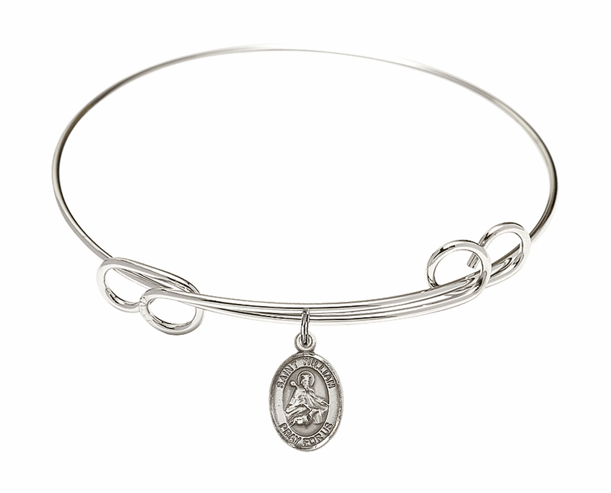 Round Loop St William of Rochester Bangle Charm Bracelet by Bliss