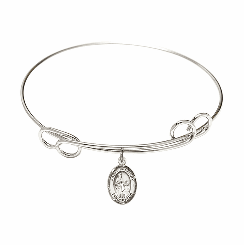Round Loop St Zachary Bangle Charm Bracelet by Bliss
