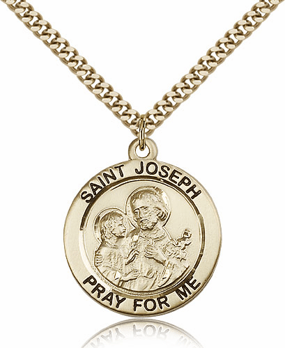Round St Joseph Patron Saint Medal by Bliss Manufacturing