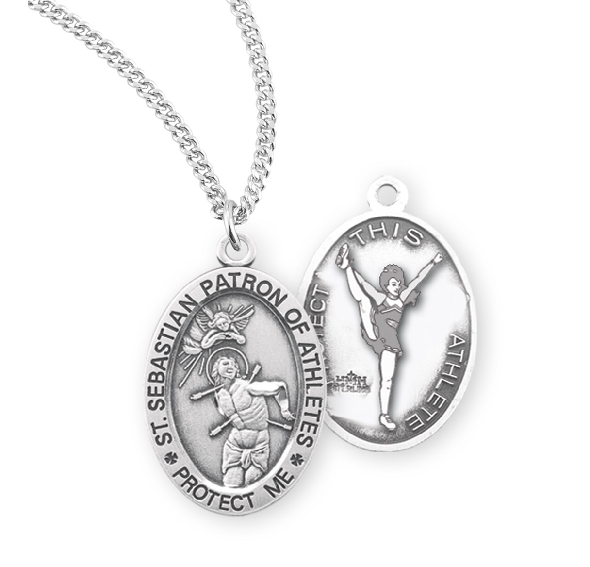 Sebastian//Figure Skating Pendant DiamondJewelryNY 14kt Gold Filled St