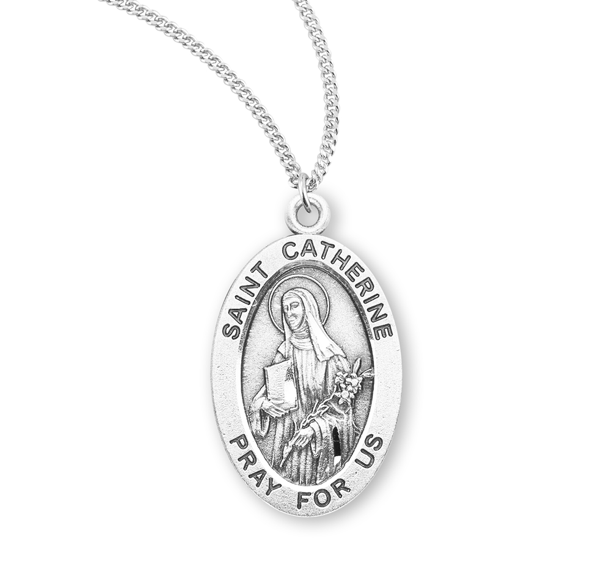 925 Sterling Silver Saintchristopher Football Medal Pendant Charm Necklace Sport Religious Patron Saint St Christopher Fine Jewelry Gifts For Women For Her