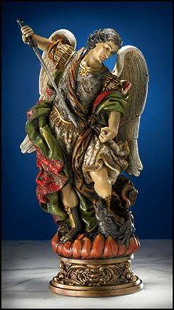 Sacred Devotions Collection St Michael Statue by Avalon Gallery