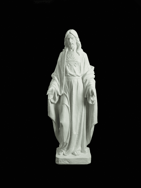 Sacred Heart of Jesus Large White Garden Statue by Avalon Gallery