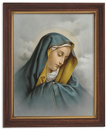Sacred Heart of Mary Framed Print Picture with Woodtone Frame by Gerffert