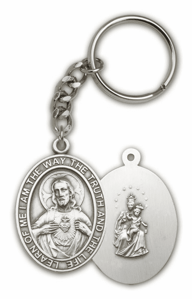 Sacred Heart Scapular Antique Keychain by Bliss