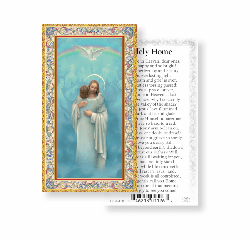 Safely Home Memorial Holy Cards 100pcs by Fratelli Bonella