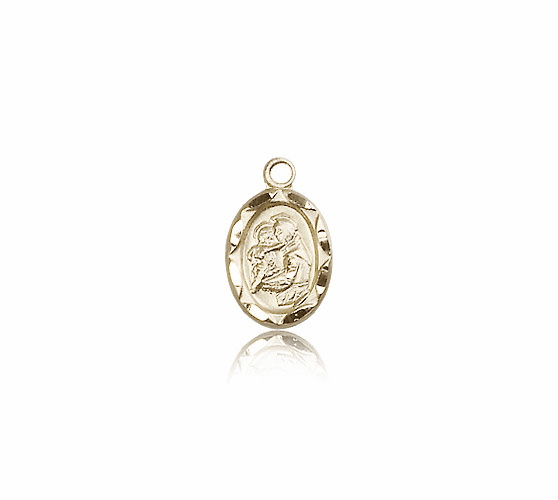 Bliss Mfg Infant/Baby Anthony 14kt Gold Medal Pendant