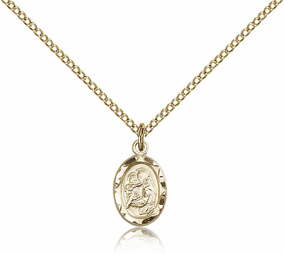 Bliss Mfg Infant/Baby Anthony Gold Filled Medal Pendant