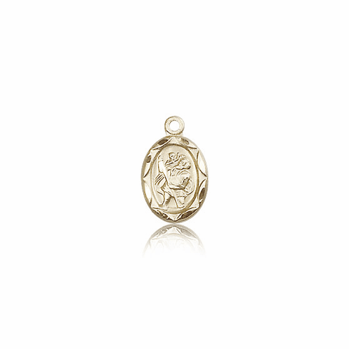 Bliss Mfg Infant/Baby Christopher 14kt Gold Medal Pendant