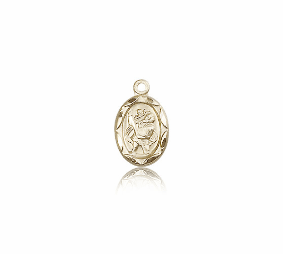Saint Christopher 14kt Gold Medal by Bliss