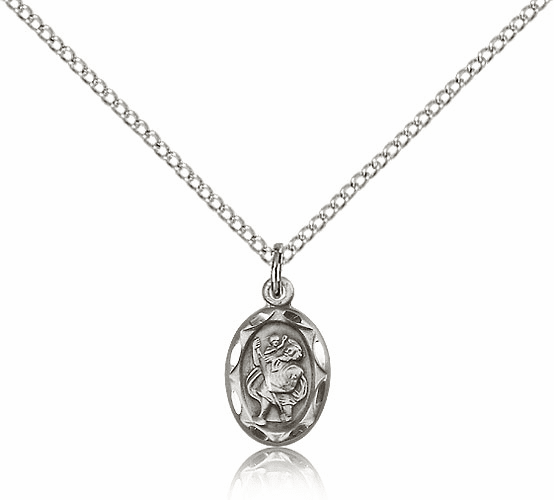 Saint Christopher Sterling Silver Pendant by Bliss