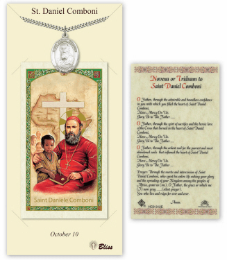 Saint Daniel Comboni Pendant and Holy Prayer Card Gift Set by Bliss