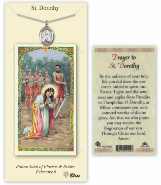 Saint Dorothy Pendant and Holy Prayer Card Gift Set by Bliss