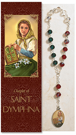 Saint Dymphna Catholic Prayer Chaplet Sets 3ct by Milagros