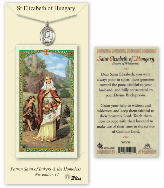 Saint Elizabeth of Hungary Pendant and Holy Prayer Card Gift Set by Bliss