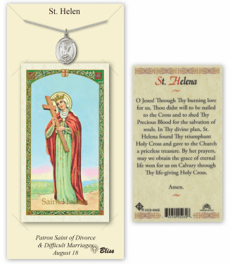 Saint Helen Pendant and Holy Prayer Card Gift Set by Bliss