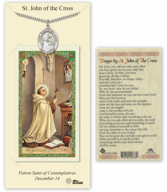 Saint John of the Cross Pendant and Holy Prayer Card Gift Set by Bliss