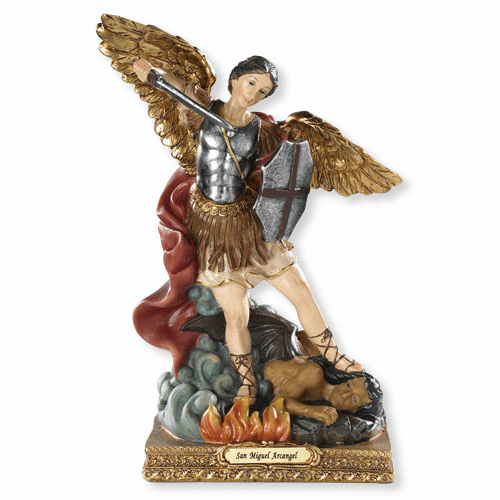 Saint Michael Archangel Spanish Statue Figurine by Barcelona Collection