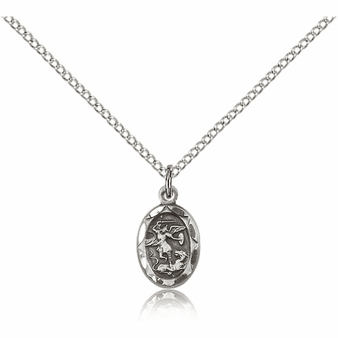 Bliss Mfg Infant/Baby Michael the Archangel Sterling Silver Medal Pendant