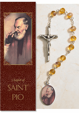 Saint Pio of Pietrelcina Catholic Prayer Chaplet Sets 3ct by Milagros