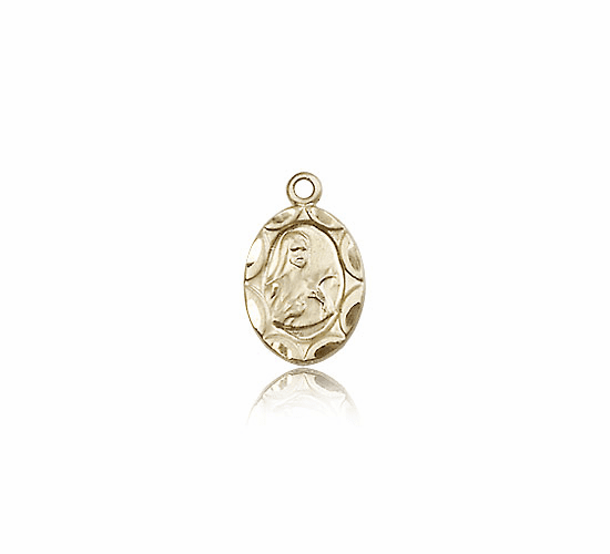 Saint Theresa 14kt Gold Medal by Bliss