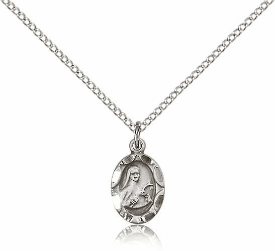 Saint Theresa Sterling Silver Pendant by Bliss