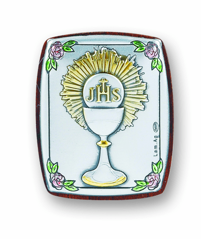 Salerni Holy Communion Sterling Silver Plaque