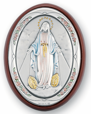 Salerni Our Lady of the Miraculous Medal Wall Plaque