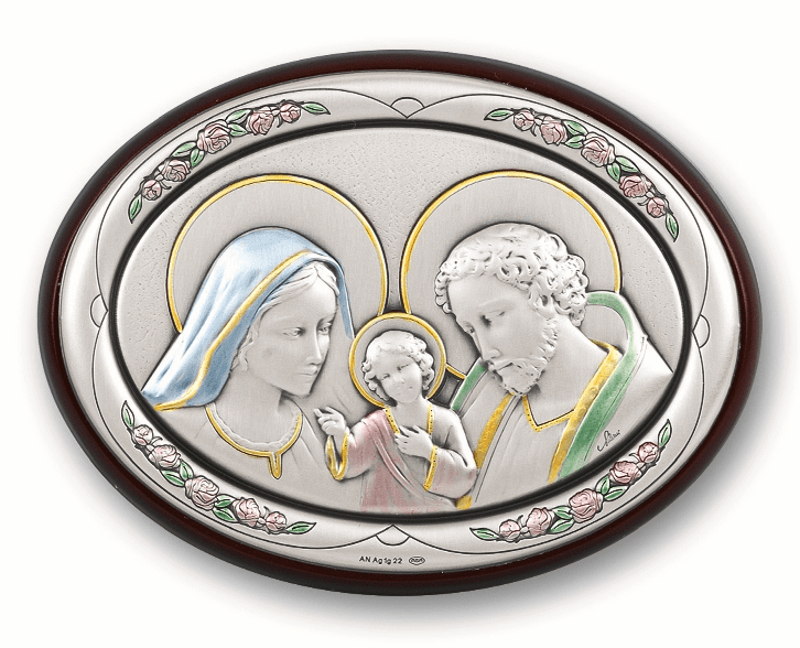 Salerni Oval Holy Family Plaque
