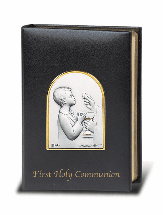 Salerni Sterling Silver Boy's First Holy Communion Missal