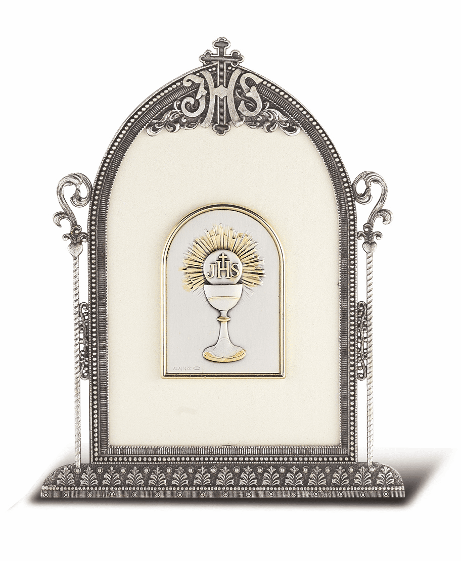 Salerni Sterling Silver First Holy Communion Plaque