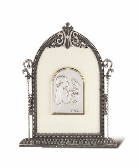 Salerni Sterling Silver Girl's First Holy Communion Plaque